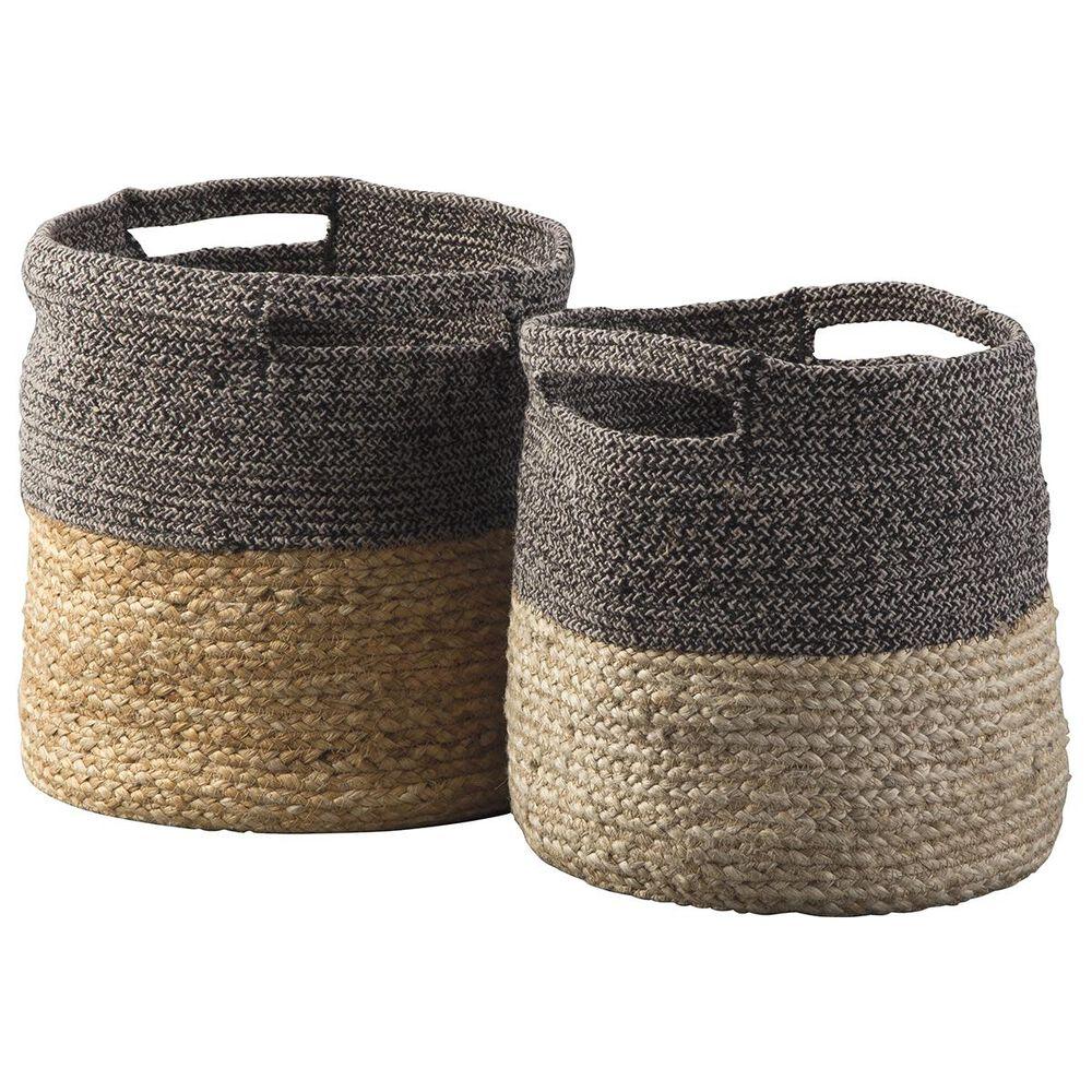 Signature Design by Ashley Parrish 2-Piece Basket Set in Natural/Black, , large