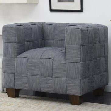 Accentric Approach Modern Authentics Woven Accent Chair in Blue, , large