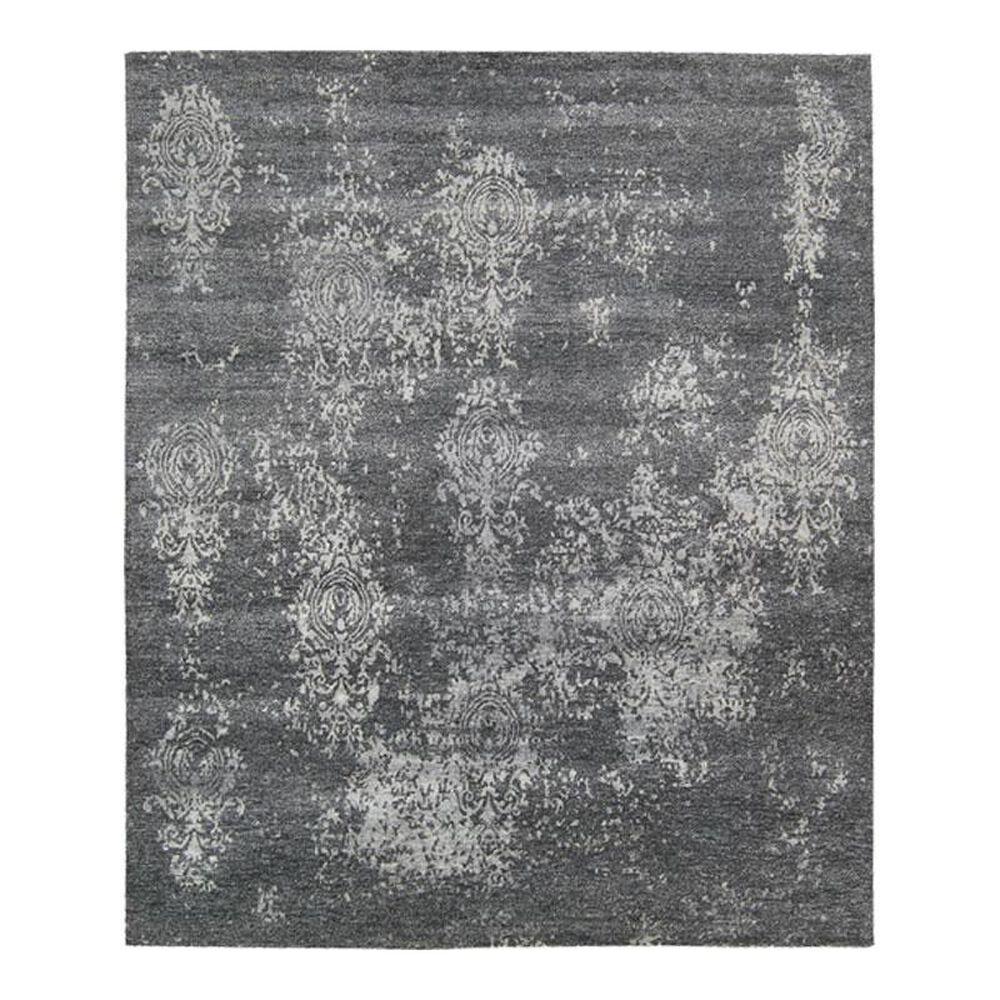 "Nourison Silk Shadows SHA14 9'9"" x 13'9"" Graphite Area Rug, , large"