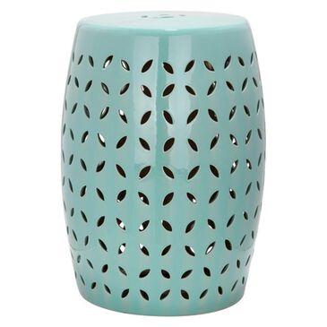 "Safavieh 18.5"" Ceramic Garden Stool in Light Blue, , large"