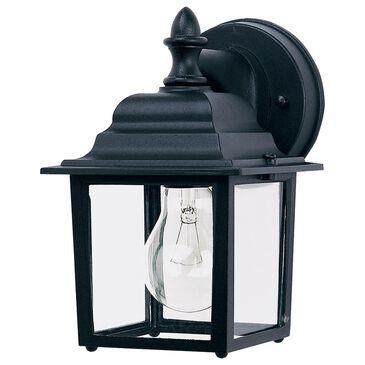 "Maxim Lighting Builder 8.5"" 1-Light Outdoor Wall Lantern in Black, , large"