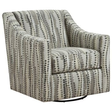 Inspirations Tempe Swivel Chair in Bocci Charcoal, , large