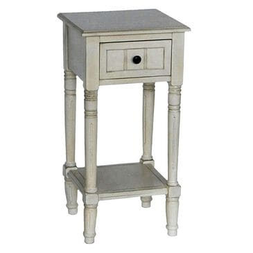 Decor Therapy Accent Table with Drawer in Antique White, , large