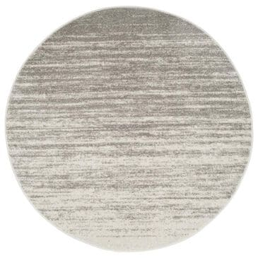 Safavieh Adirondack ADR113C 10' Round Light Grey and Grey Area Rug, , large