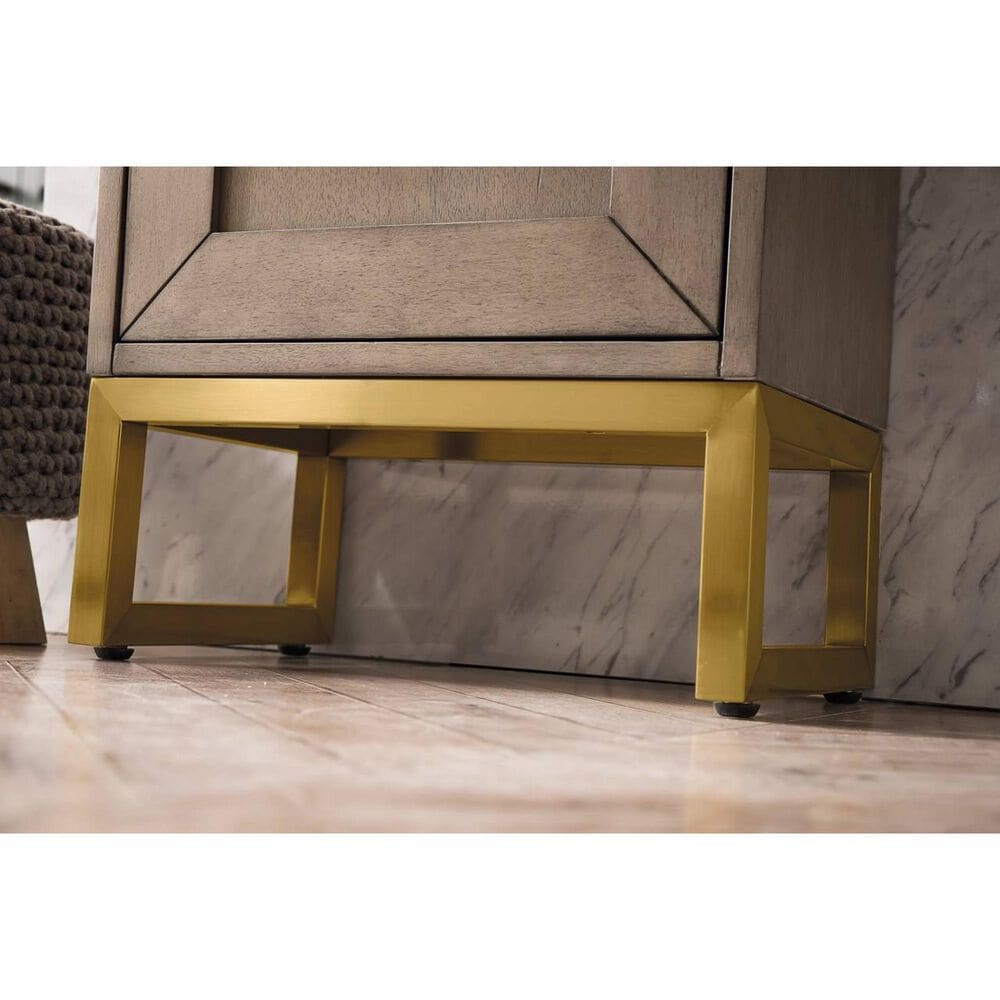 """James Martin Chianti 16"""" Single Bathroom Vanity in Whitewashed Walnut and Radiant Gold with White Glossy Solid Surface Resin Top, , large"""