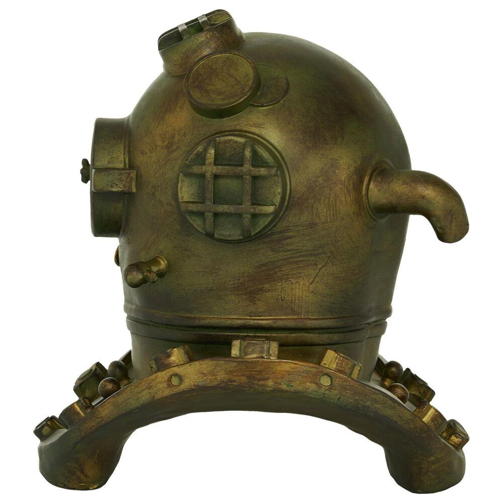 "Maple and Jade 13"" x  16"" Coastal Polystone Helmet in Gold, , large"