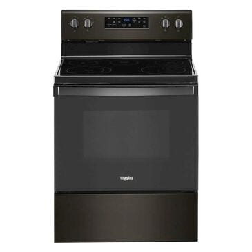 Whirlpool 5.3 Cu. Ft. Electric Range with 5-Elements in Black Stainless Steel, , large