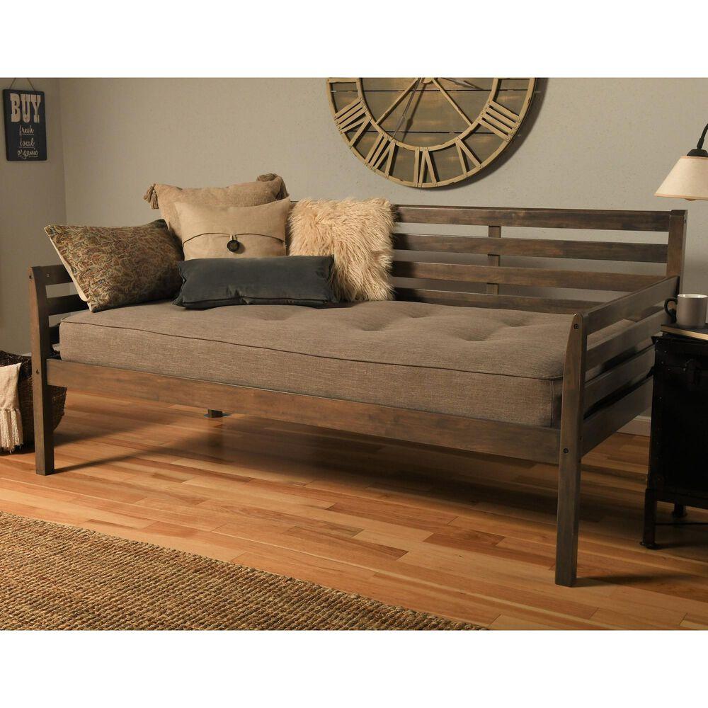 Kodiak Furniture Daybed with Mattress in Rustic Walnut, , large