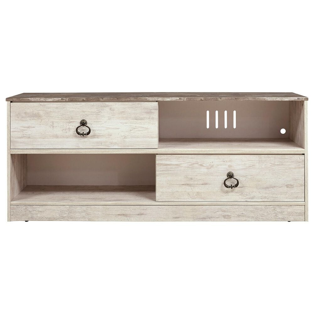 """Signature Design by Ashley Willowton Large 59"""" TV Stand in Whitewash, , large"""