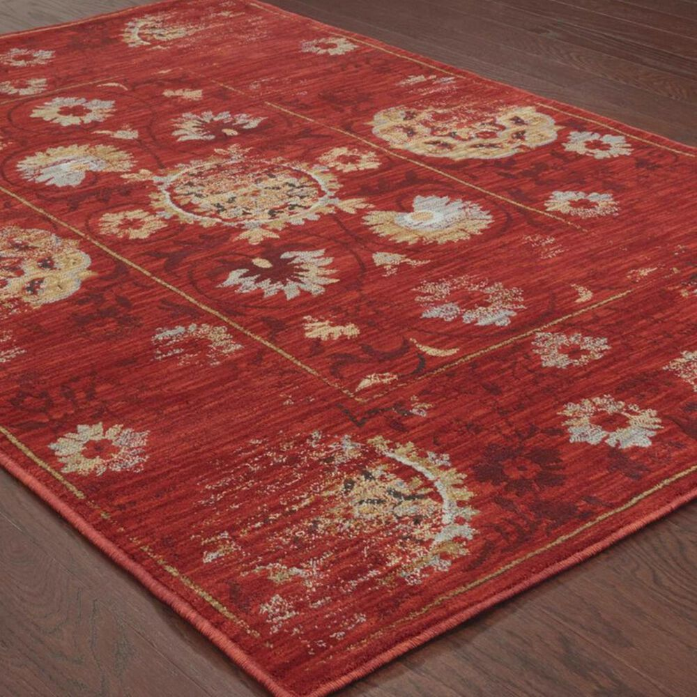 "Oriental Weavers Sedona 6386E 9'10"" x 12'10"" Red Area Rug, , large"