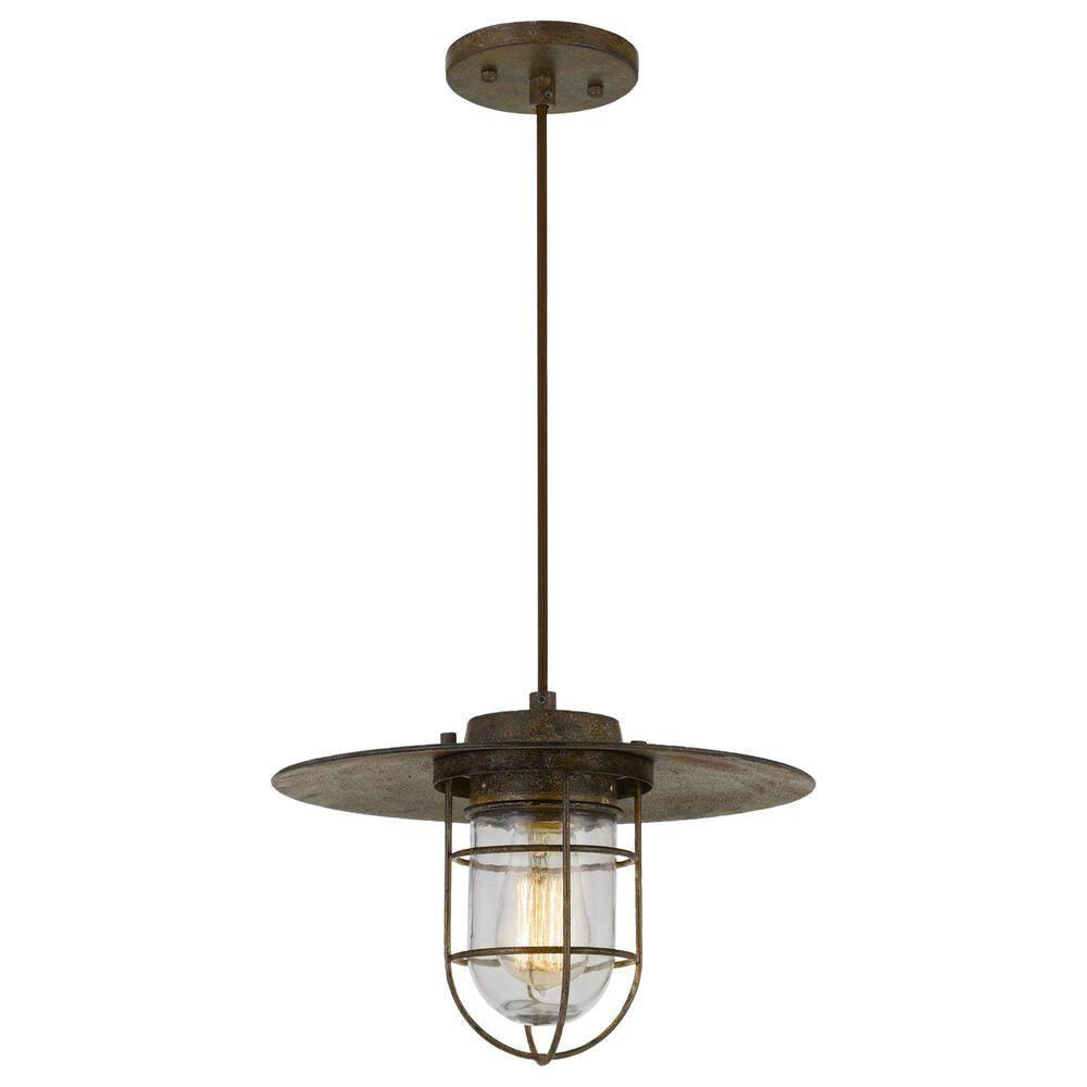 Cal Lighting Owenton Old Pendant Light in Rust, , large