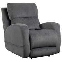 HomeStretch Power Recliner with Head and Lumbar in Sterling
