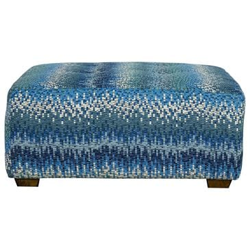Moore Furniture Merrit Cocktail Ottoman in Agean, , large