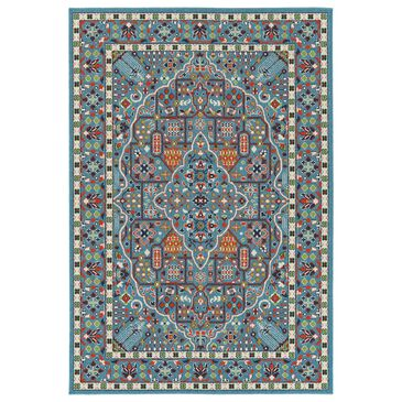 """Kaleen Rugs Sunice 1'9"""" x 3' Light Blue, Tangerine, Lime Green, Navy and Ivory Area Rug, , large"""