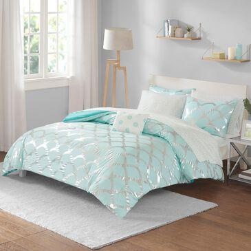Hampton Park Lorna 8-Piece Full Comforter Set in Aqua, , large
