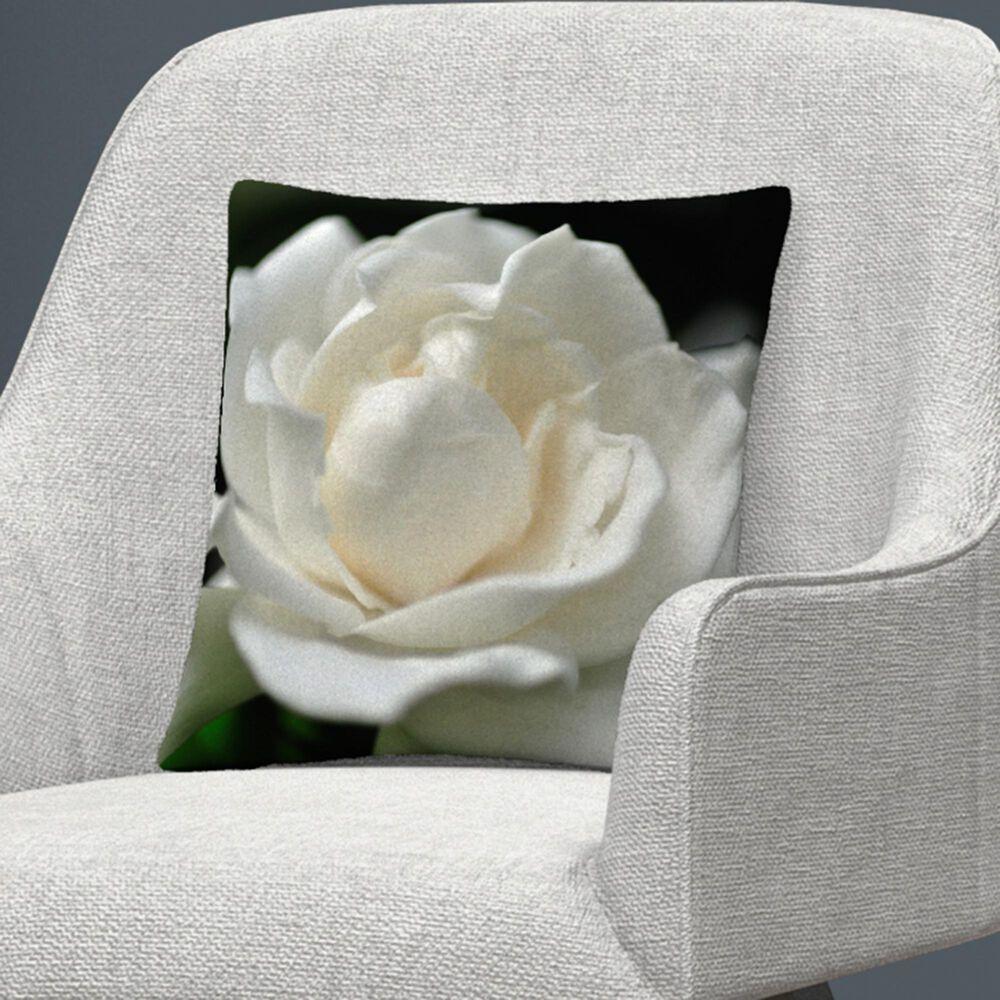 Timberlake Kurt Shaffer 'Lovely Gardenia' 16 x 16 Decorative Throw Pillow, , large