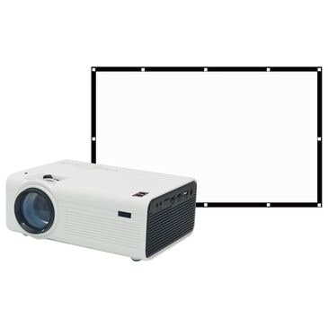 RCA Bluetooth Home Theater Projector, Bundled with Fold Up Screen, , large
