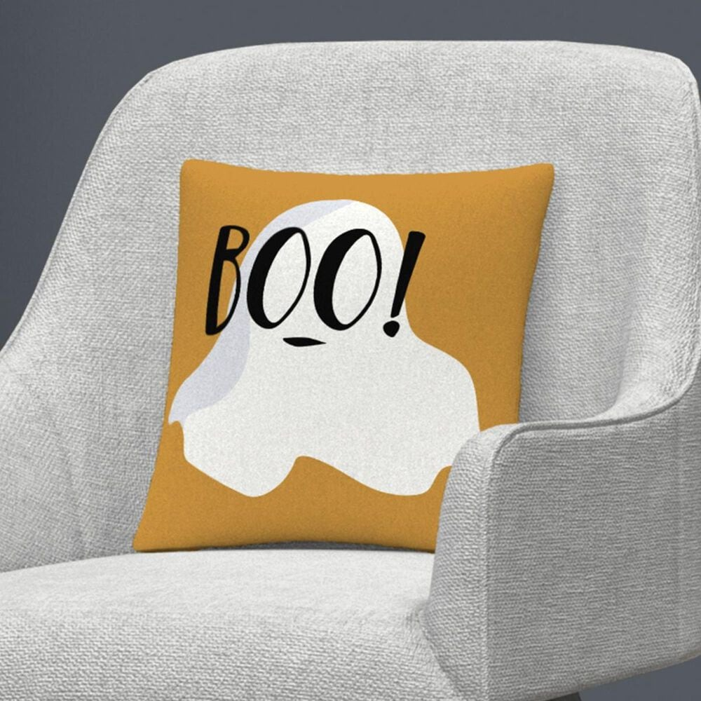 """Timberlake White Ghost Boo Halloween By ABC 16"""" Decorative Throw Pillow, , large"""