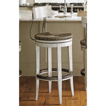 Lexington Furniture Oyster Bay Merrick Swivel Bar Stool in Oyster, , large