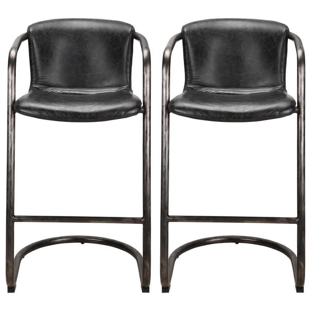 Moe's Home Collection Freeman Barstool in Black (Set of 2), , large