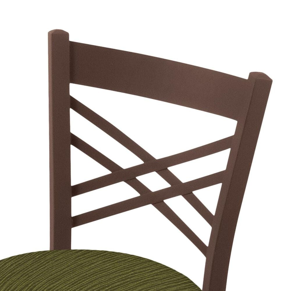 """Holland Bar Stool 620 Catalina 18"""" Chair with Bronze and Graph Parrot Seat, , large"""