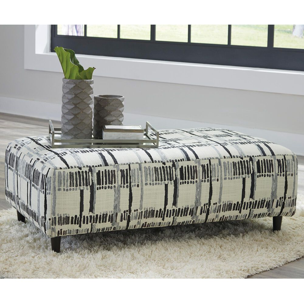 Signature Design by Ashley Kennewick Oversized Accent Ottoman in Geographic , , large