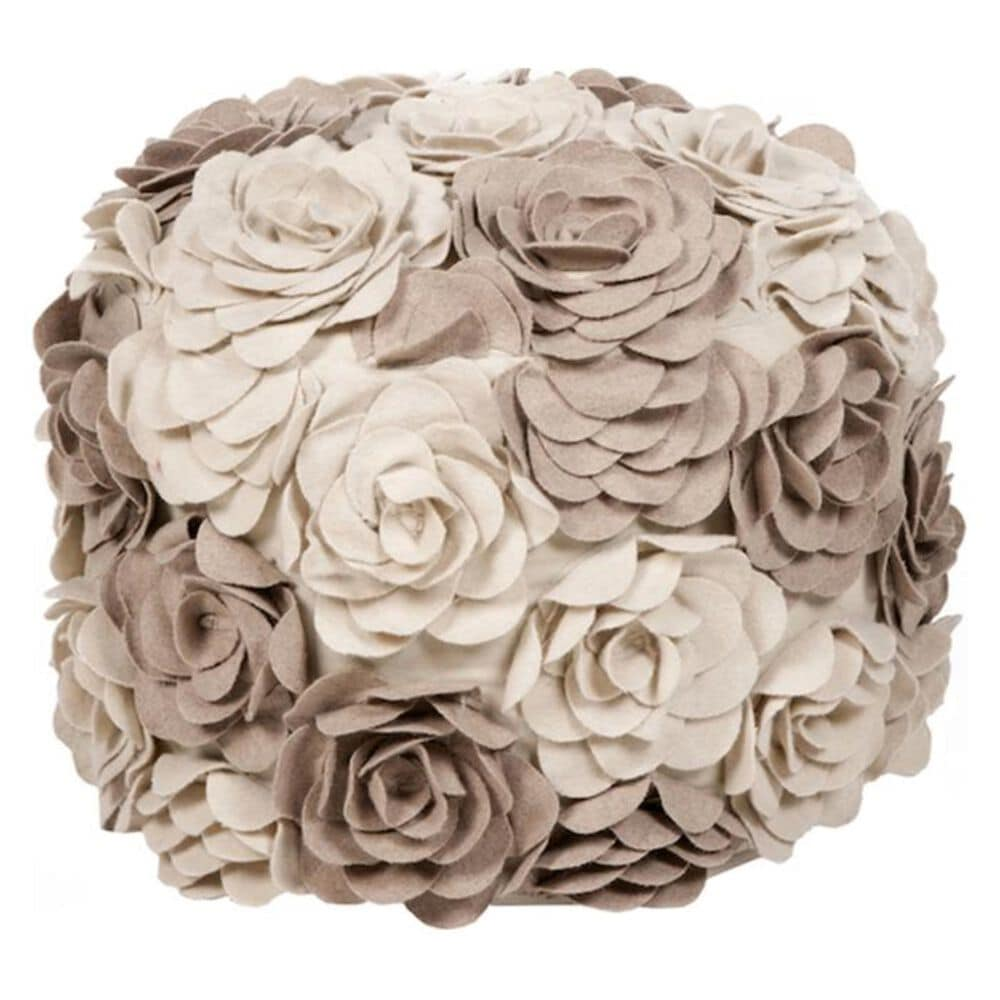 "Surya Inc 18"" x 18"" Pouf in Parchment, , large"