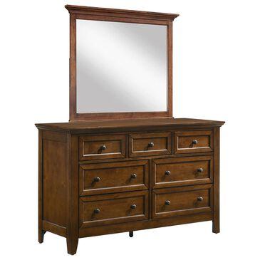 Hawthorne Furniture San Mateo 7 Drawer Dresser and Mirror in Tuscan, , large