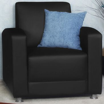 Regency Global Sourcing Milan Lounge Chair in Black, , large