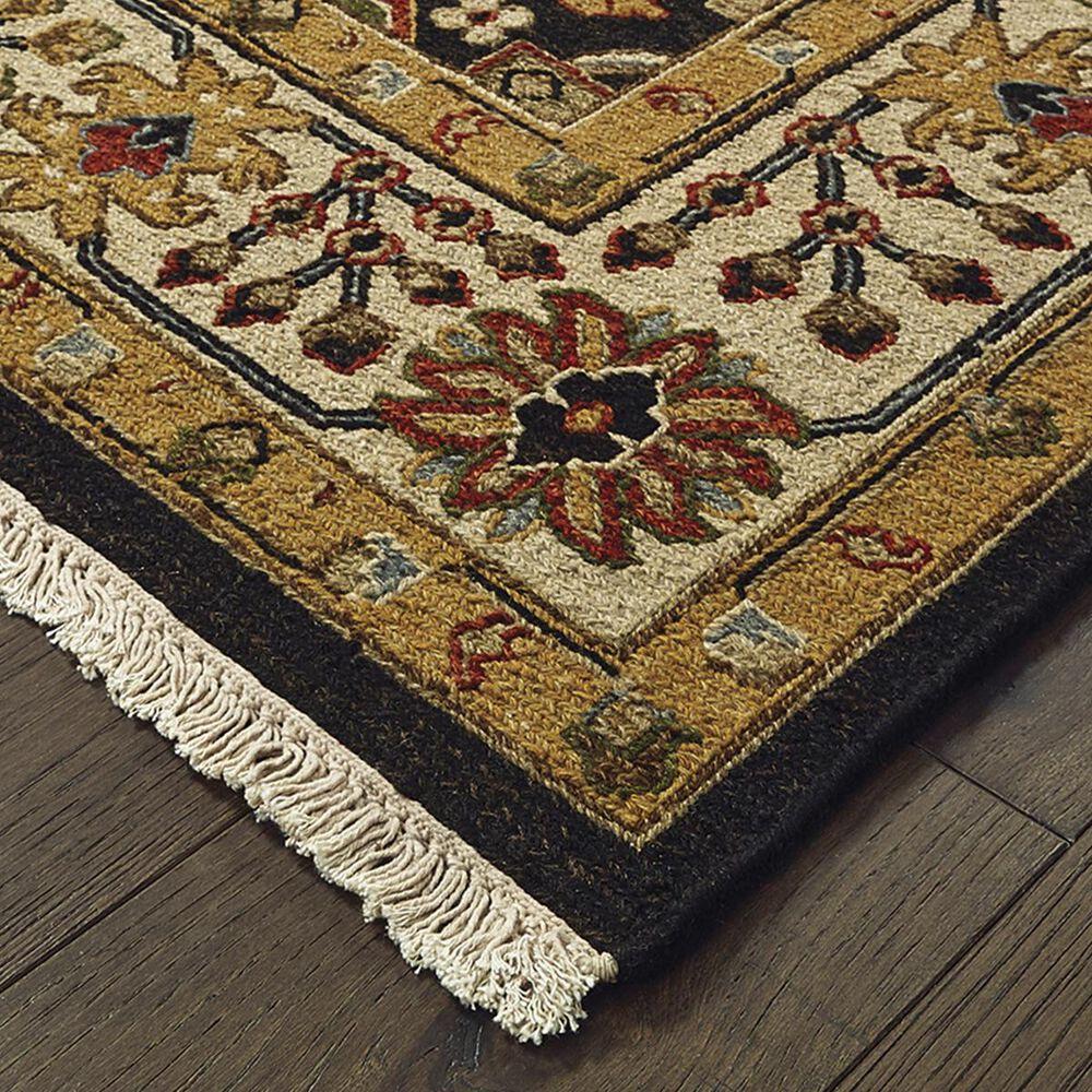 "Oriental Weavers Angora 12302 2'6"" x 10' Black and Ivory Runner, , large"