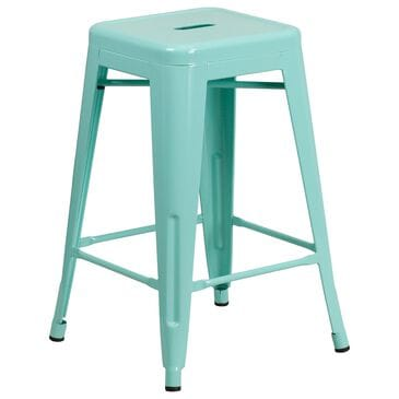 "Flash Furniture 24"" Counter Stool in Green, , large"