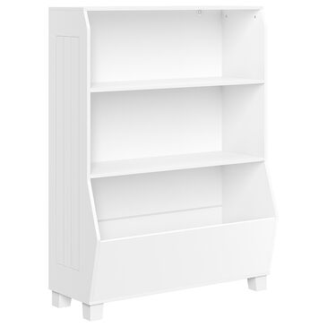 """RiverRidge Home 34"""" Bookcase with Toy Organizer in White, , large"""