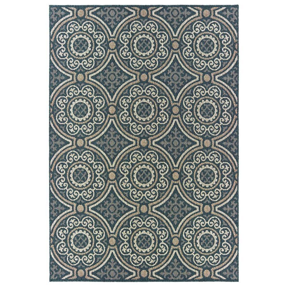 "Oriental Weavers Latitude 609B 1""10"" x 7""6"" Blue Runner, , large"