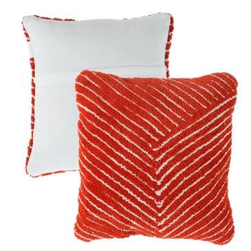 Timberlake Lavish Home Square Decorative Pillow in Red Clay, , large