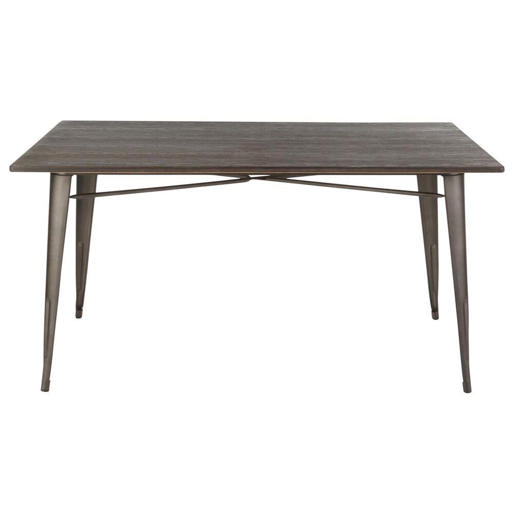 "Lumisource Oregon 59"" Dining Table in Espresso/Antique, , large"