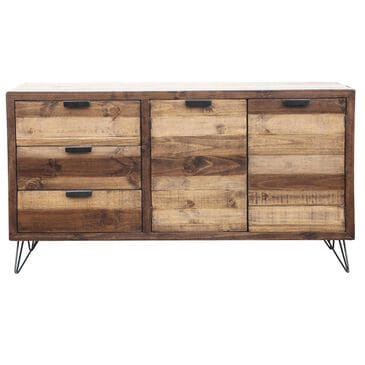 Mayberry Hill Cruz Server in Black and Natural Pine, , large