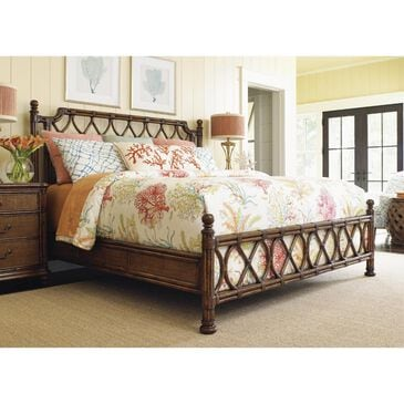 Tommy Bahama Home Bali Hai Island Breeze Rattan Queen Bed in Warm Brown, , large