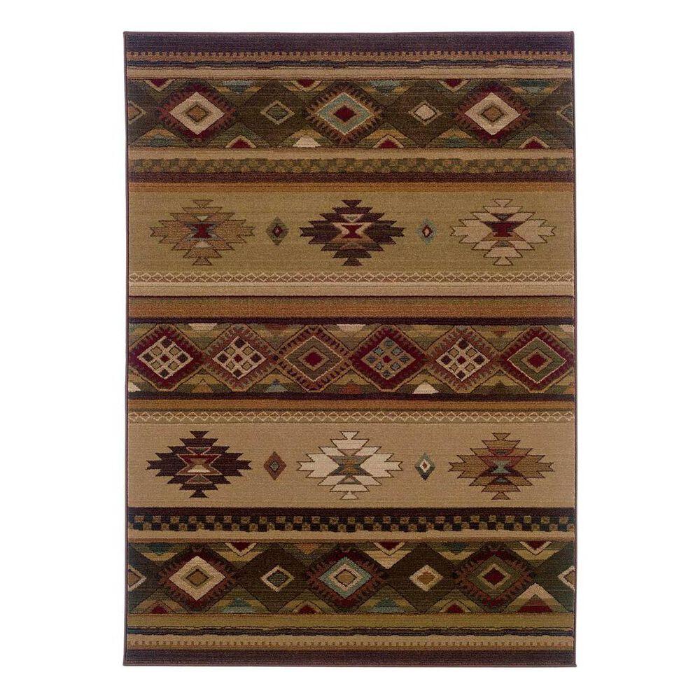 """Oriental Weavers Genesis 90J 4' x 5'9"""" Brown Area Rug, , large"""