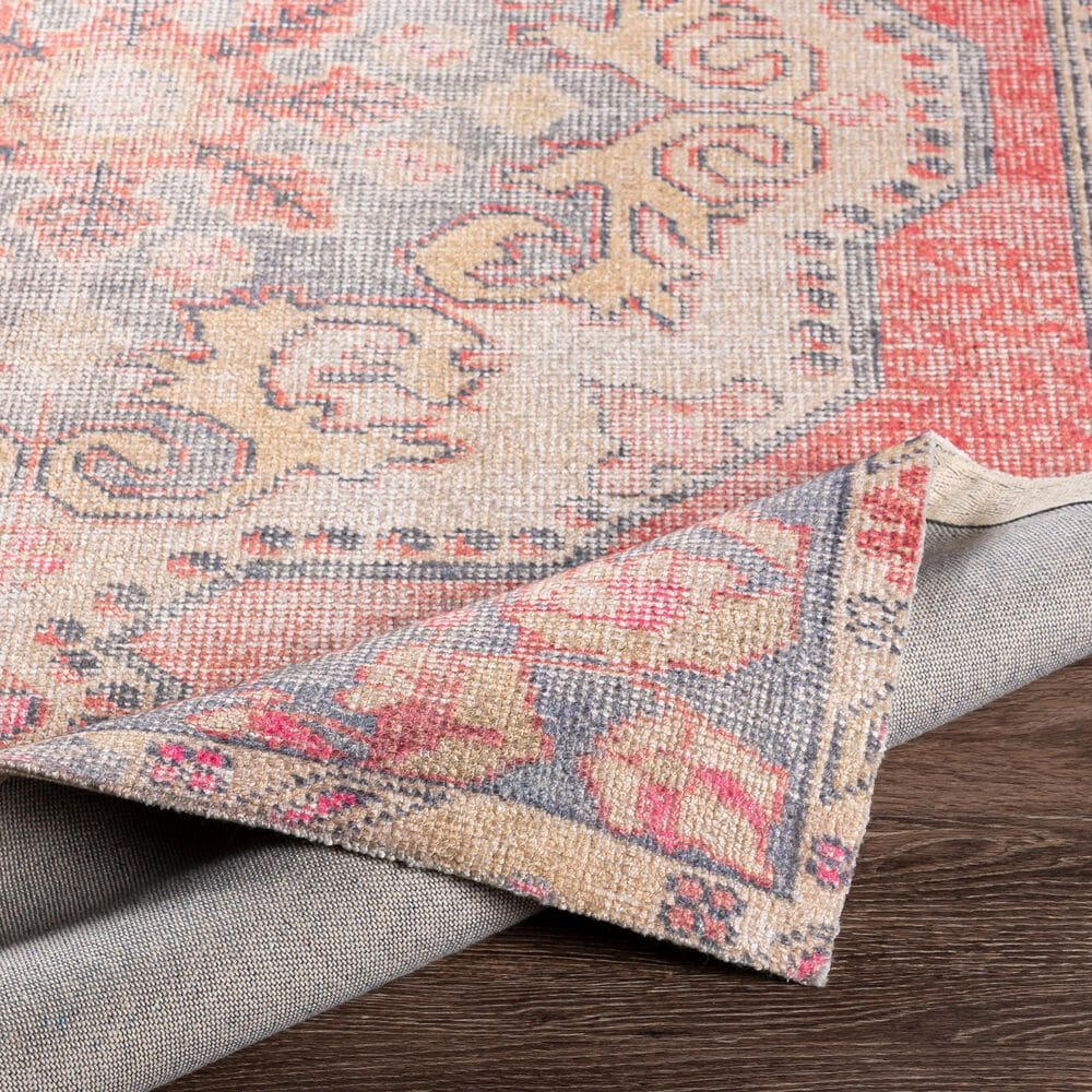 """Surya Unique UNQ-2315 5' x 7'6"""" Coral, Gray and Wheat Area Rug, , large"""