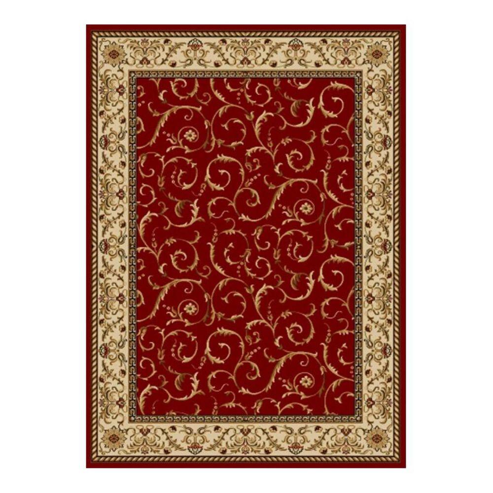 "Radici USA Bergamo 1599 7'9"" x 11' Red Area Rug, , large"