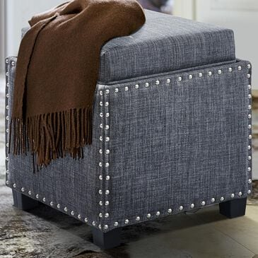 Blue River Blaze Ottoman in Slate Gray, , large