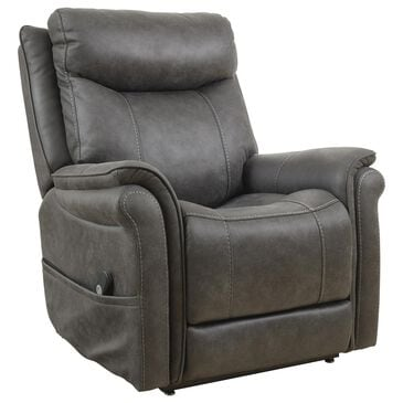 Signature Design by Ashley Lorreze Power Lift Recliner with Heat and Massage in Steel, , large