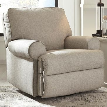 Signature Design by Ashley Ferncliff Manual Swivel Glider Recliner in Sepia, , large