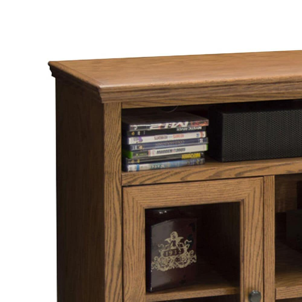 """Endress International Colonial Place 62"""" Tall TV Cart in Golden Oak, , large"""