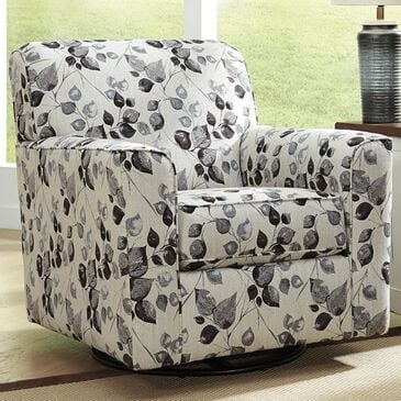 Signature Design by Ashley Abney Swivel Accent Chair in Platinum, , large