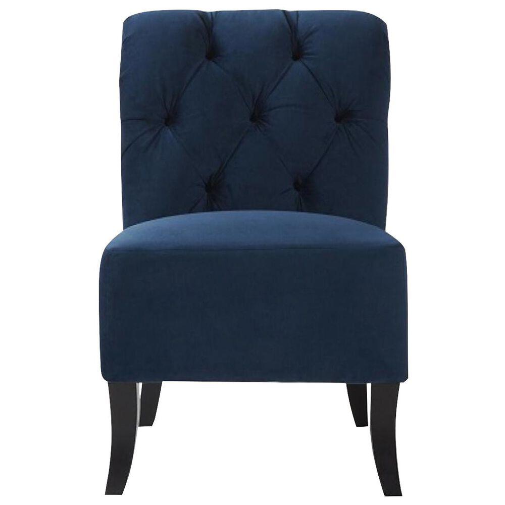Hughes Furniture Armless Chair in Bing Indigo Velvet, , large