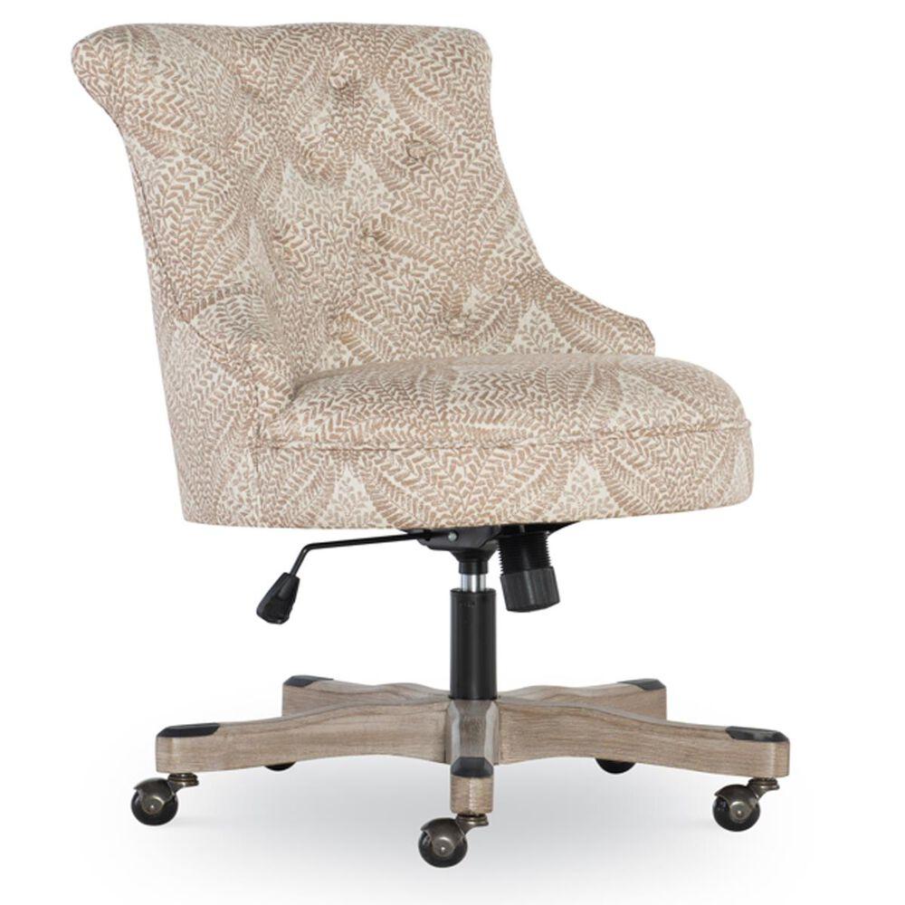 Linden Boulevard Sinclair Desk Chair in Tan Print, , large