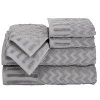 Timberlake Lavish Home Chevron 100% Cotton 6 Piece Towel Set