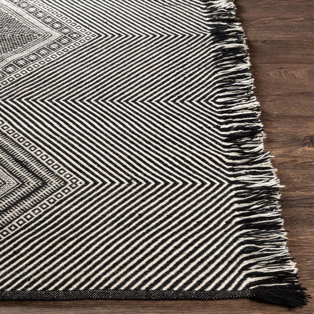 "Surya Zanafi ZNF-2302 2'3"" x 3'9"" Black and White Area Rug, , large"