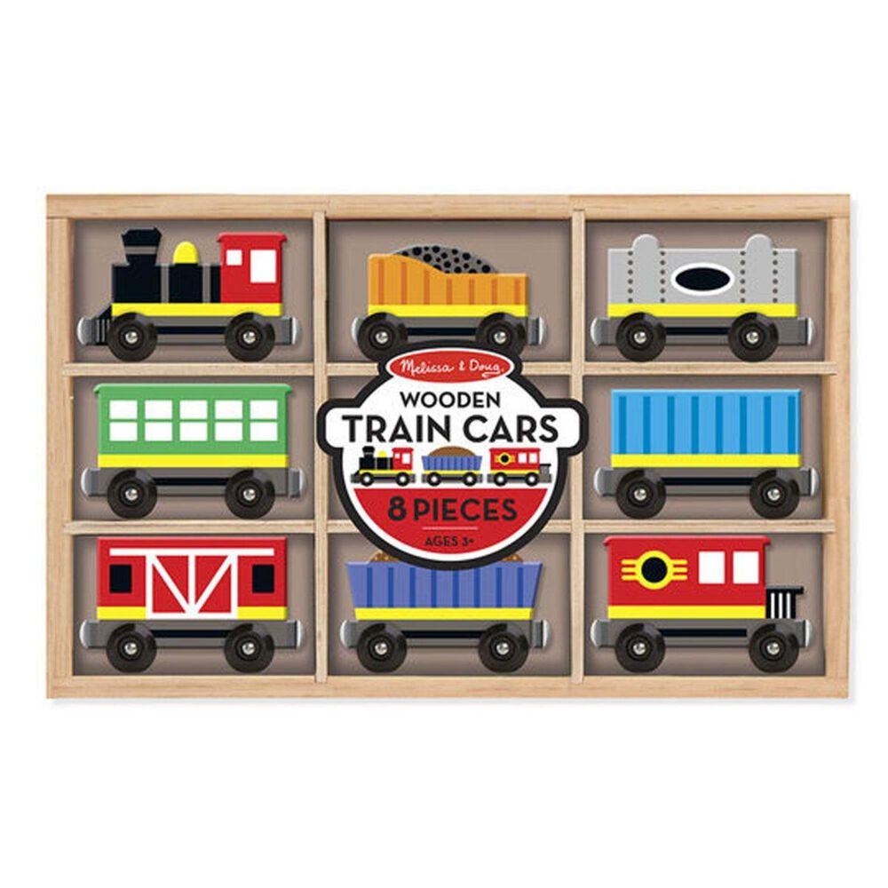 Melissa & Doug Wooden Train Cars, , large